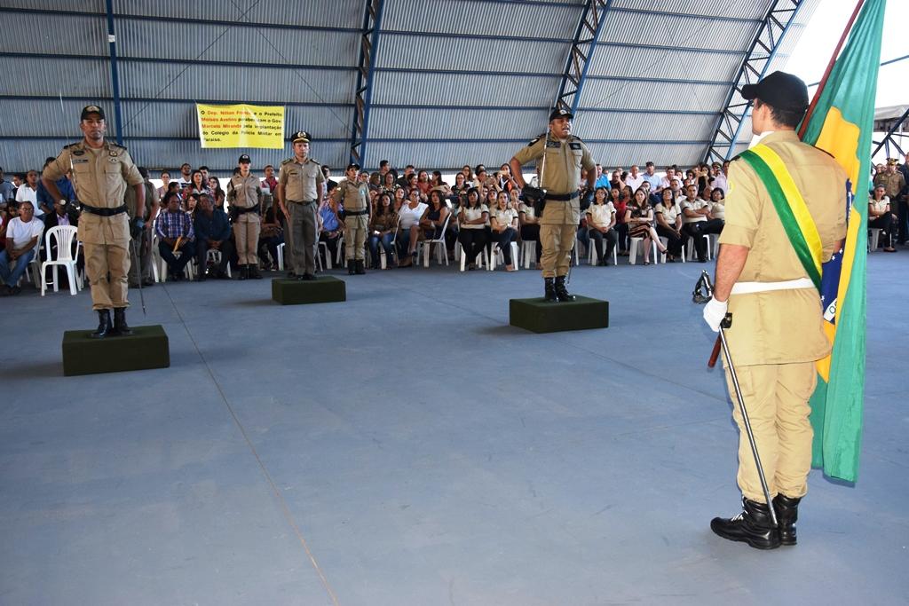 Governador realiza troca oficial do comando do 8º Batalhão da PM e lança Colégio Militar em Paraíso