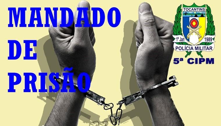 Polícia Militar prende foragido da justiça no Tocantins