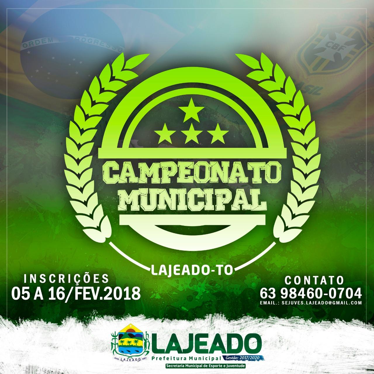Começa neste sábado o campeonato municipal de futebol de Lajeado