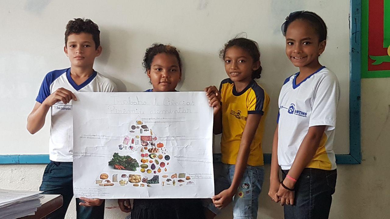 Estudantes apresentam comidas típicas durante culminância do Projeto Alimentação Saudável