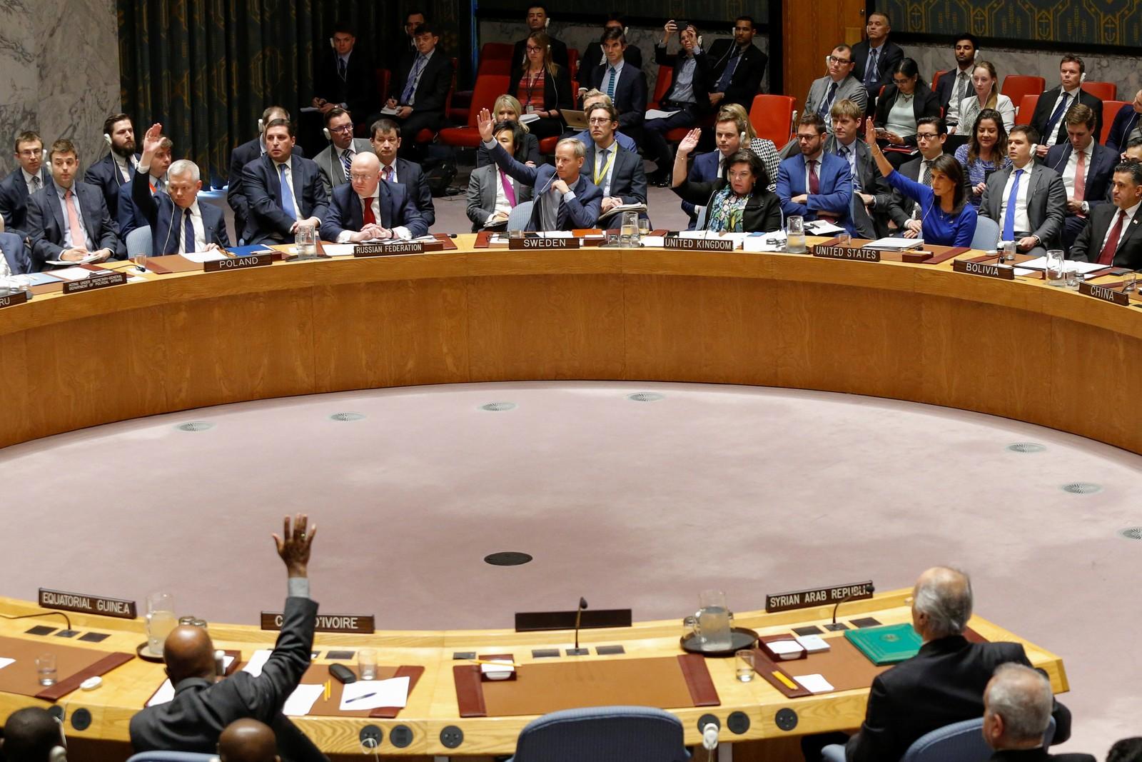 Conselho de Segurança da ONU rejeita pedido russo de condenação a ataques na Síria