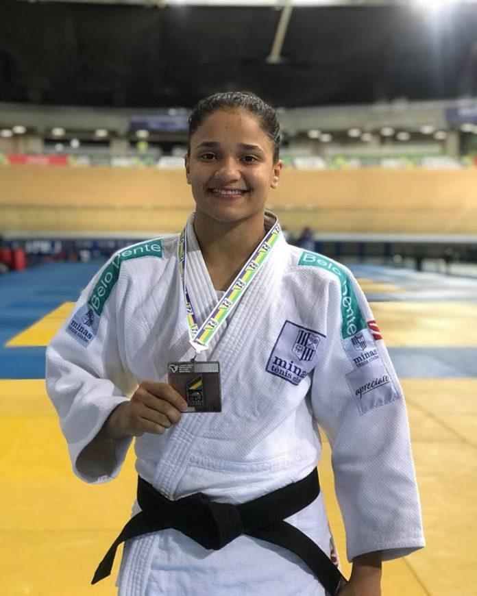 Ennilara Lisboa, tocantinense do Minas Tênis Clube, é a terceira colocada no Brasileiro de Judô