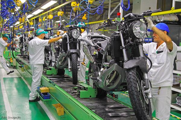 Produção de motos cresce 12,2% no primeiro trimestre