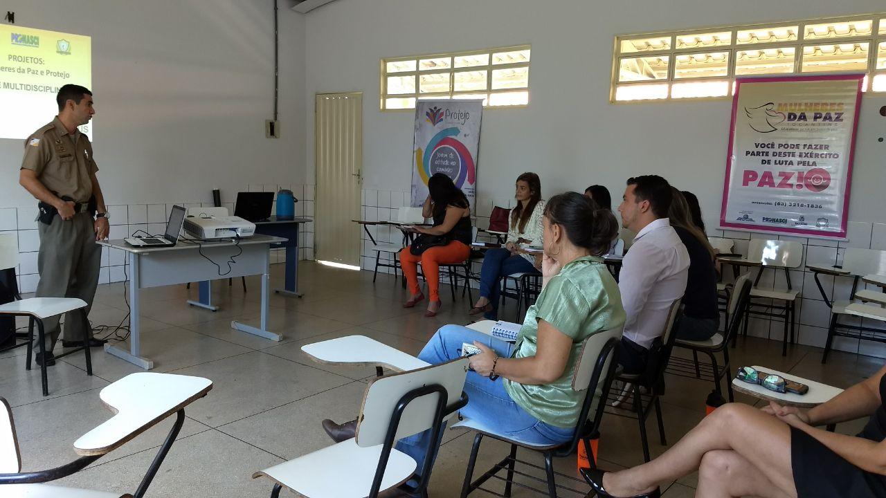 Equipe multidisciplinar dos projetos Mulheres da Paz e Protejo de Gurupi iniciam capacitação