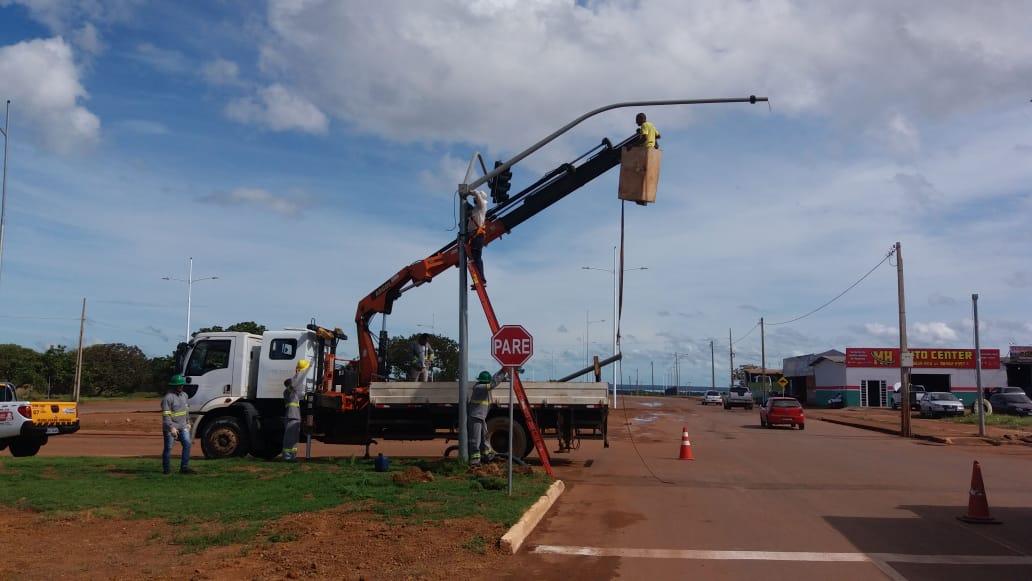 Semáforos da Teotônio Segurado com a LO-12 ficarão desligados até sexta-feira, 27