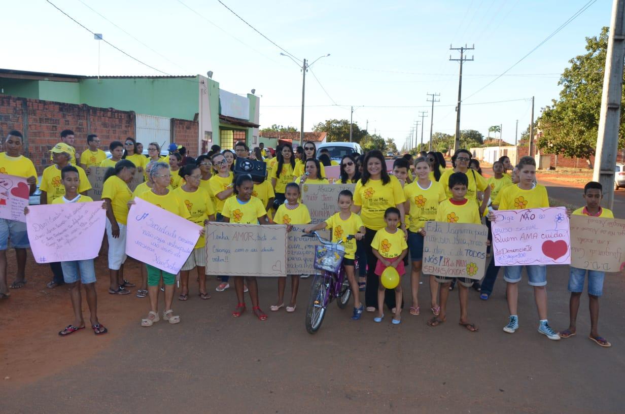 Caminhada promove conscientização sobre o abuso e exploração sexual de crianças e adolescentes em Porto Nacional