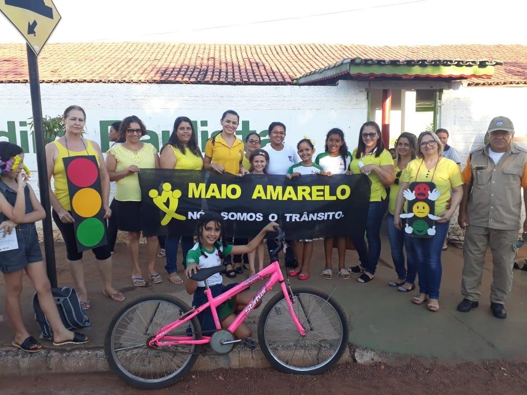 Detran e Escola municipal de Paraíso realizam atividades de conscientização sobre segurança no trânsito