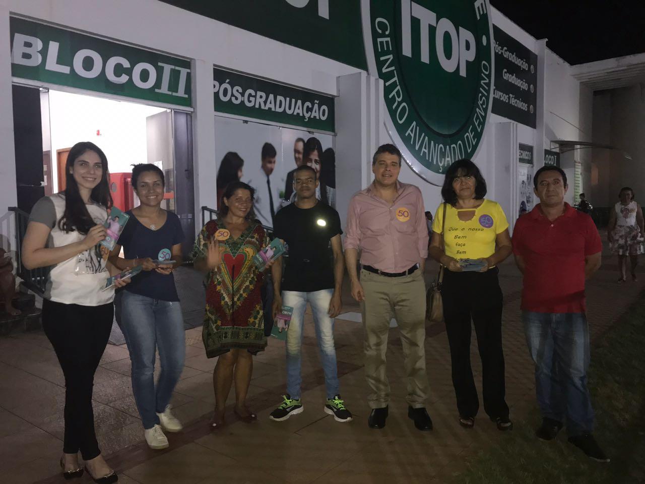 Mário Lúcio realiza ação no Itop e visita Feira da 304 sul em Palmas