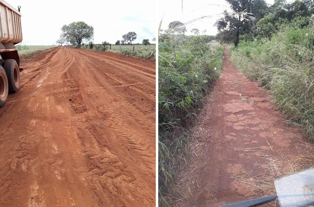Prefeitura de Caseara revitaliza estradas vicinais do Assentamento Buritirana