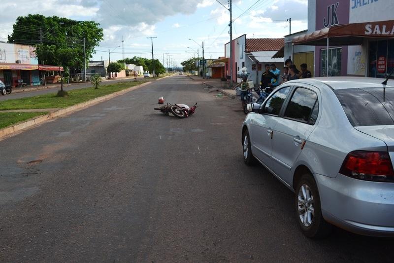 Acidente na região sul de Paraíso leva motociclista inconsciente para HRP