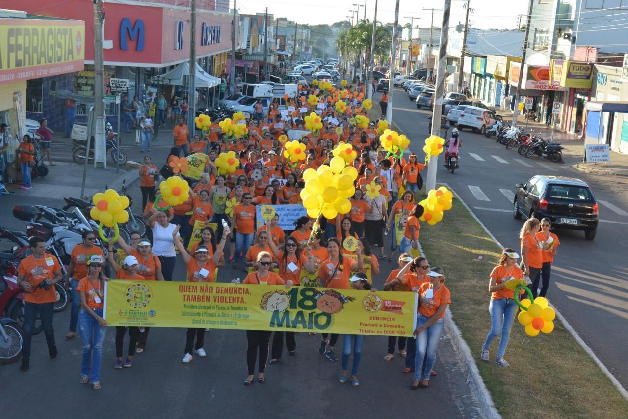 Dia Combate ao Abuso contra Crianças e Adolescentes é marcado em Paraíso com Caminhada