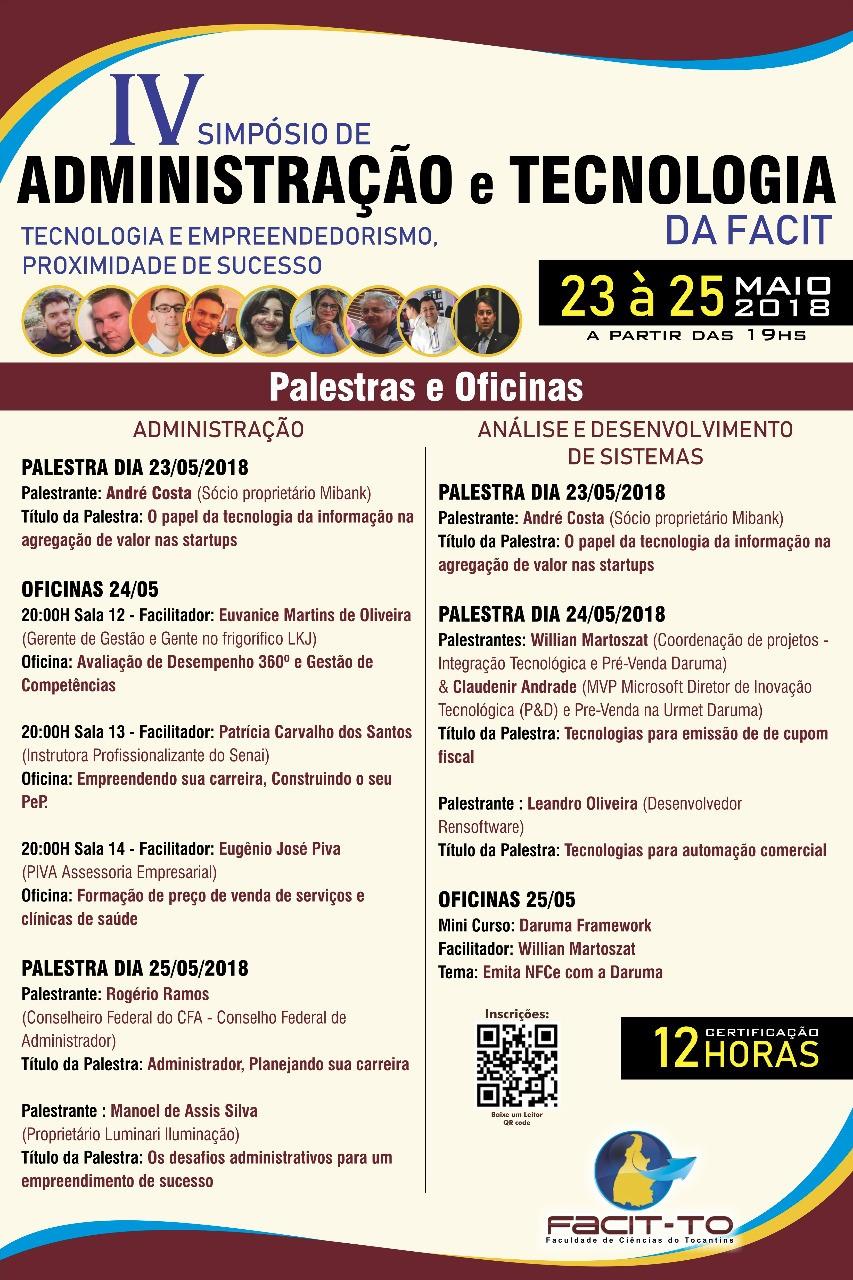 Simpósio de Administração e Tecnologia da FACIT traz profissionais de referência no mercado para Araguaína