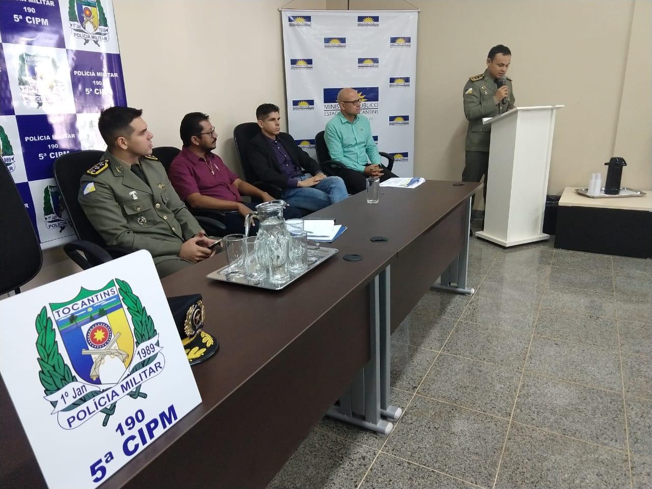 Assessoria de Polícia Comunitária e 5ª CIPM realizaram a solenidade de posse do Conselho Comunitário de Segurança Pública na cidade de Tocantinópolis