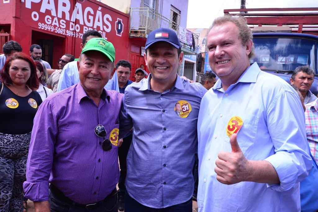 Ao lado de Carlesse, Lázaro reforça pedido de voto em Colinas, Araguatins e Augustinópolis: caminhada em Araguaína ocorrerá nesta quinta, 21