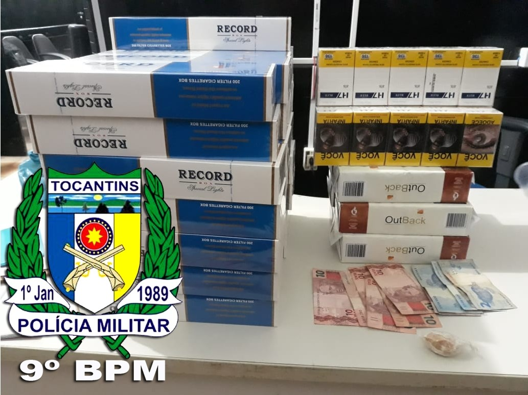 Em Augustinópolis, Polícia Militar prende suspeito com pedra de crack e 39 pacotes de cigarro