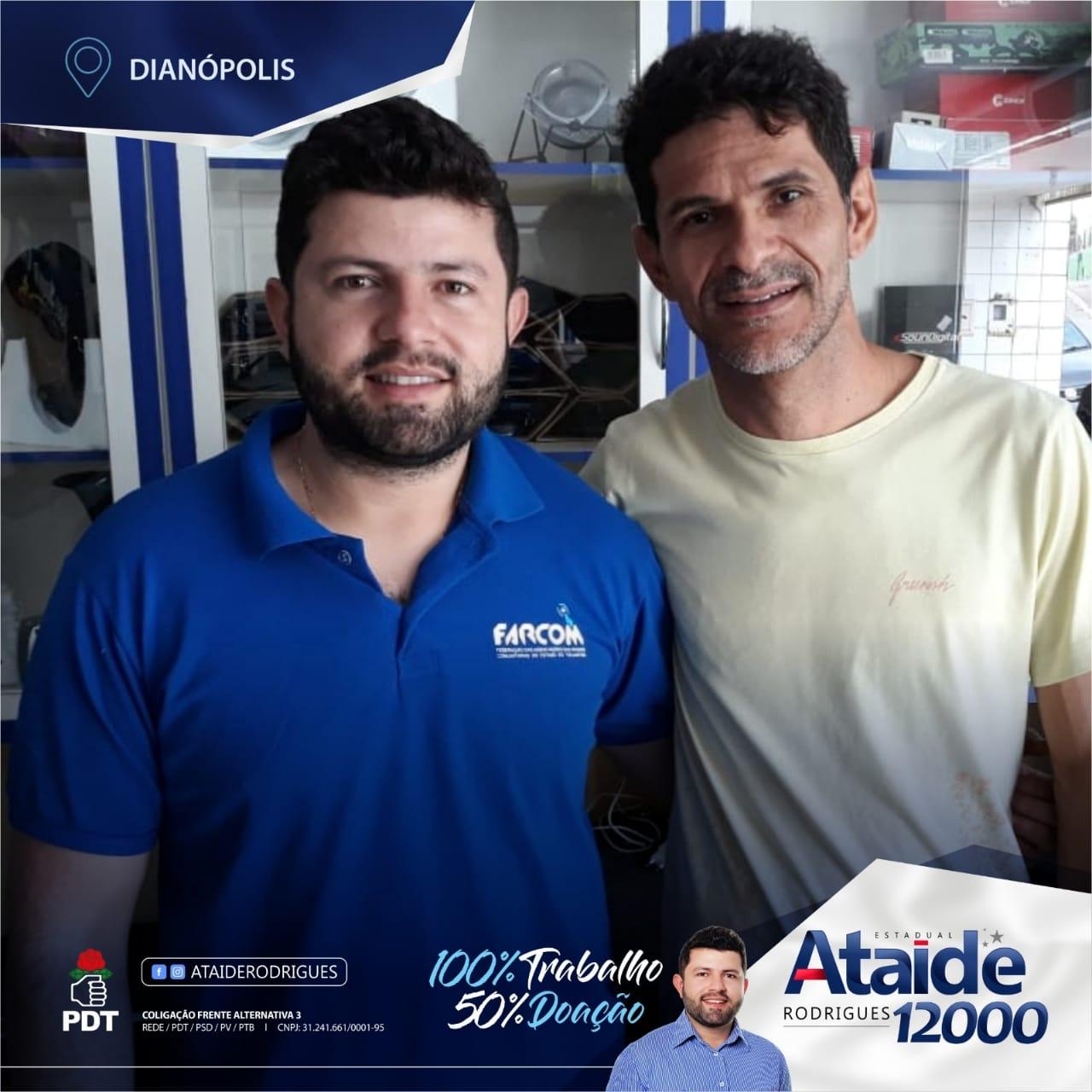 Após registro de candidatura, vereador Ataíde Rodrigues inicia campanha para deputado estadual
