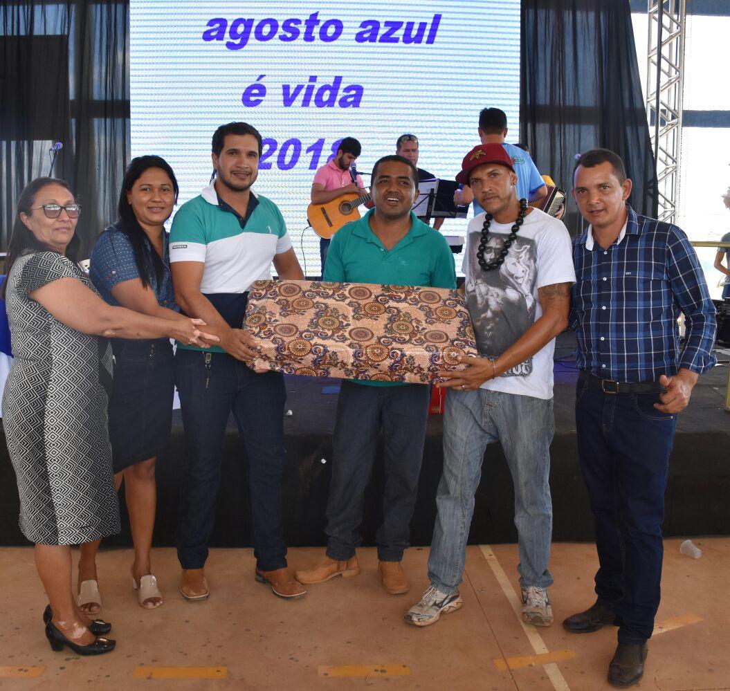 """Prefeitura de Pugmil fecha ações do projeto """"Agosto Azul é Vida"""" e anuncia pavimentação asfáltica de 4 mil m² e calçadas"""