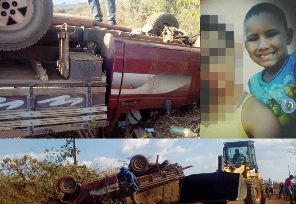 Criança de 9 anos morre após veículo tombar em Agricolândia