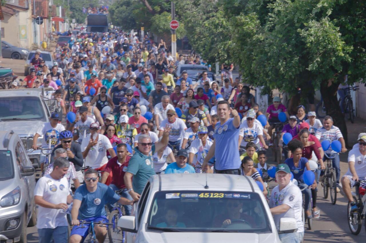 Com mais de 3 mil pessoas em pedalada, o povo deixa claro, que quer Gutierres Torquato para deputado estadual