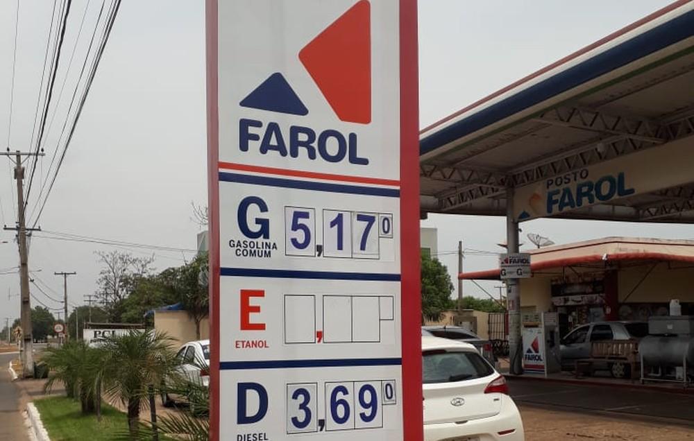 Preço da gasolina tem novo aumento e chega a R$ 5,19 nos postos de Palmas