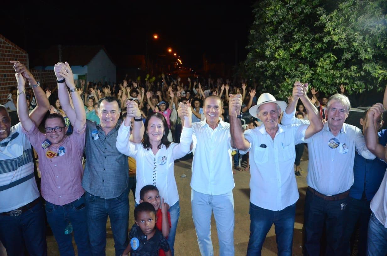 Carreata e comício de Ataídes reúne multidão em Guaraí