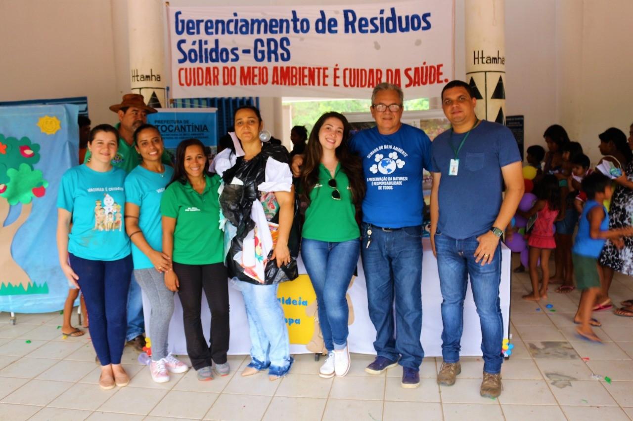 Campanha de educação ambiental chega às aldeias de Tocantínia