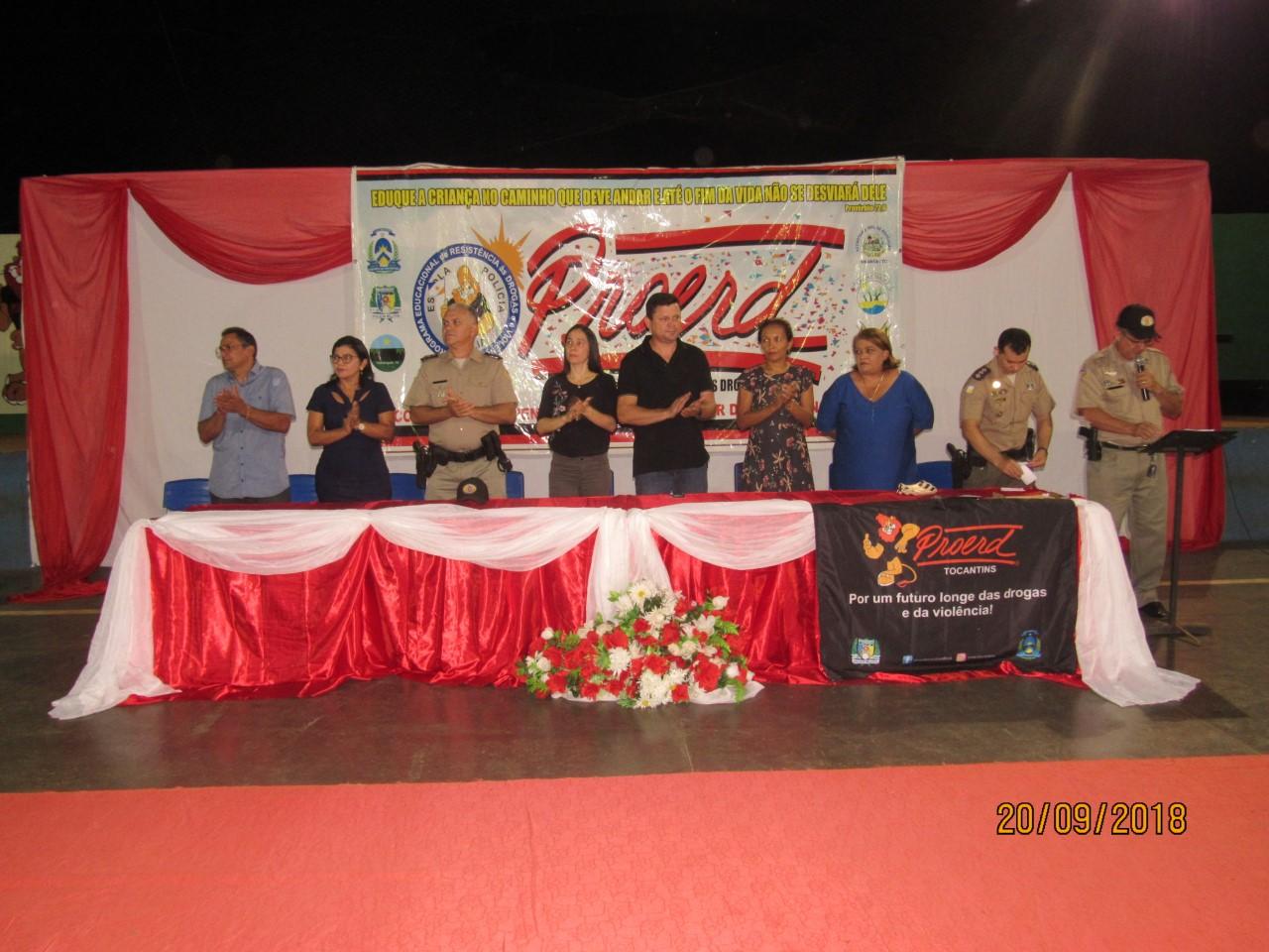 Mais 3 turmas do Proerd, são formadas na cidade de Aguiarnópolis (TO).