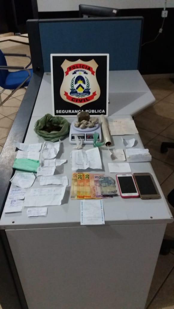 Suspeita de traficar drogas é presa pela Polícia Civil em Guaraí