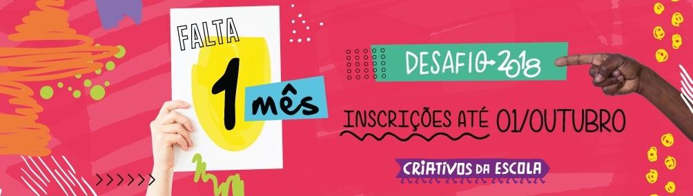 Reta final: projetos de estudantes podem ser inscritos no Desafio Criativos da Escola até o dia 1º de outubro