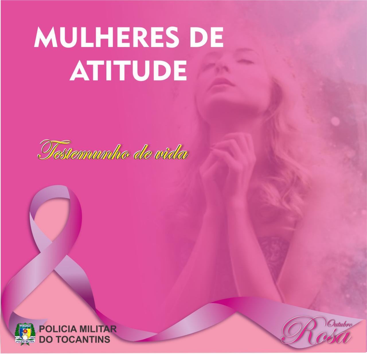 Campanha de prevenção e combate ao câncer de mama, da Polícia Militar do Tocantins