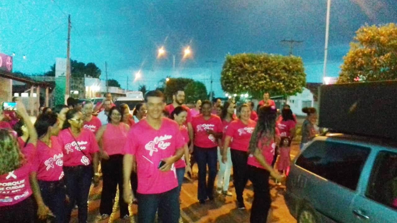 Prefeitura de Marianópolis realiza caminhada da campanha Outubro Rosa