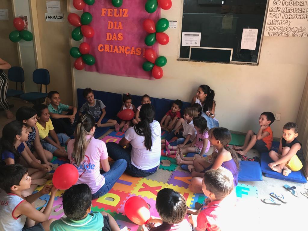 UBS de Chapada de Areia comemora Dia da Criança com brincadeiras, lanche e palestras