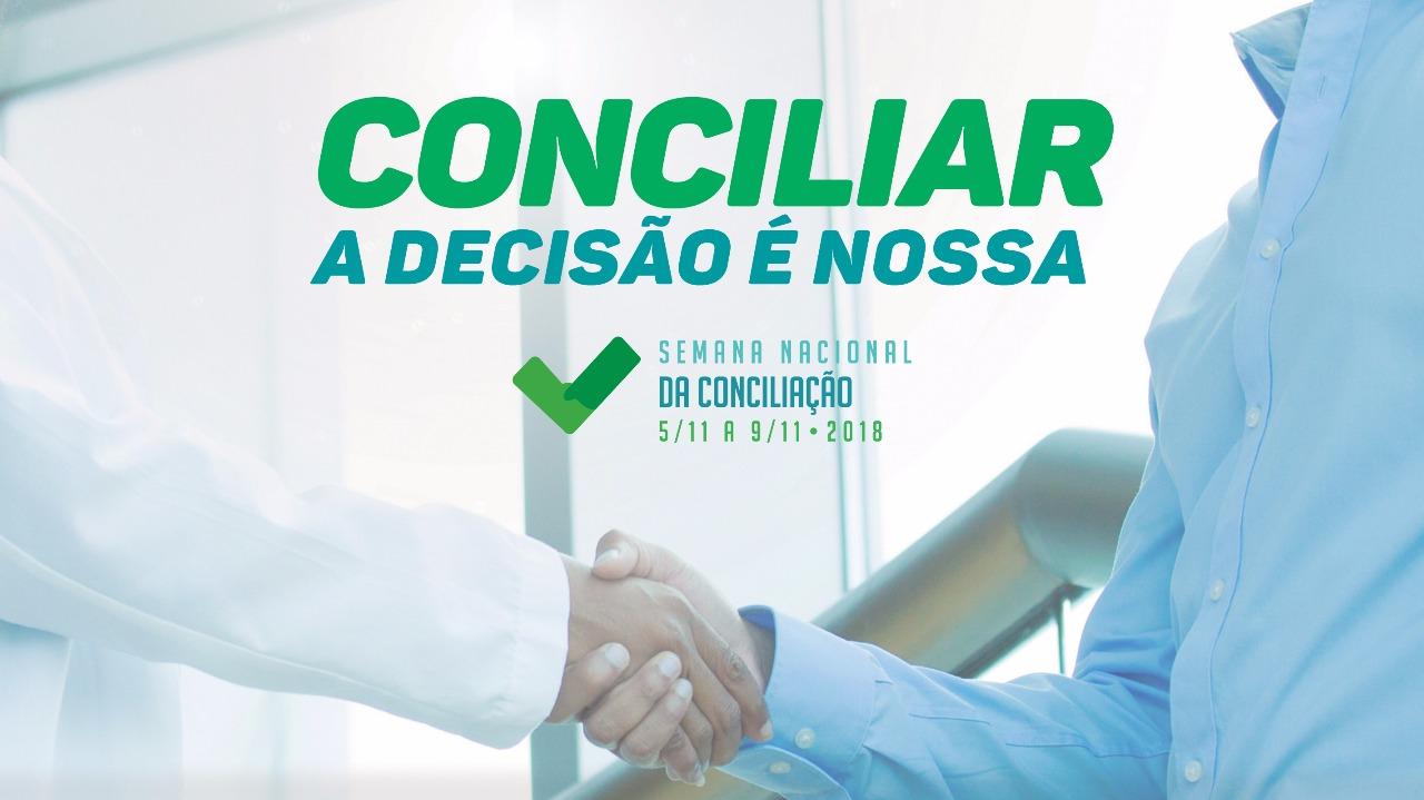 13ª Semana Nacional da Conciliação: Interessados devem agendar audiência até sexta-feira, 19
