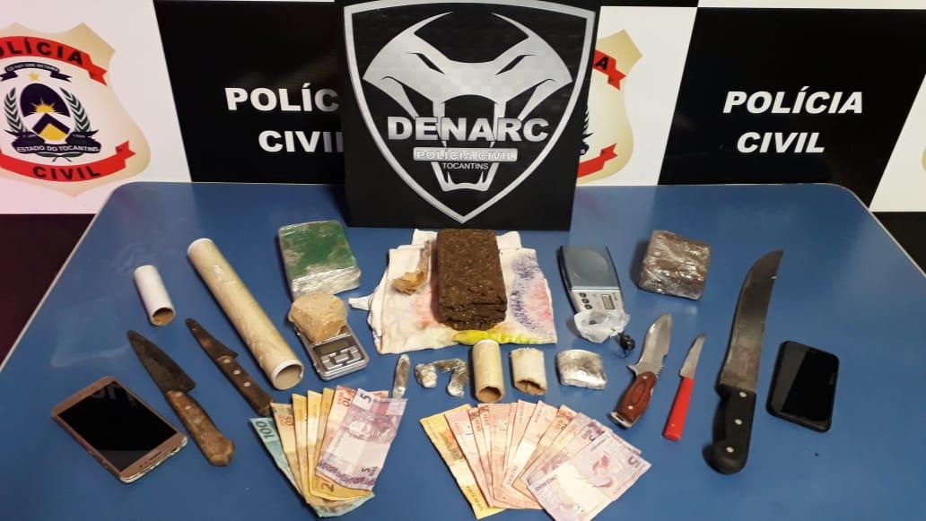 Polícia Civil prende quatro pessoas suspeitas de comercializar drogas na região Norte da Capital