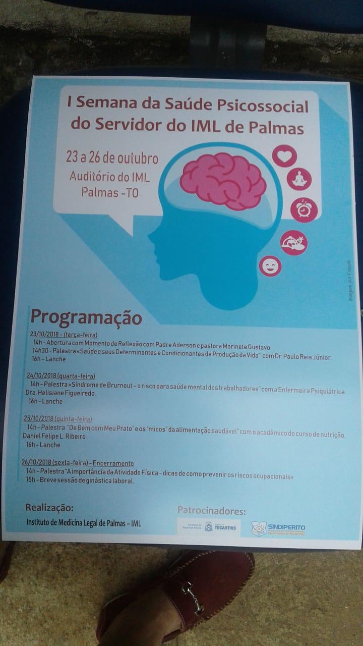 IML promove semana de palestras em comemoração ao Dia do Servidor Público em Palmas