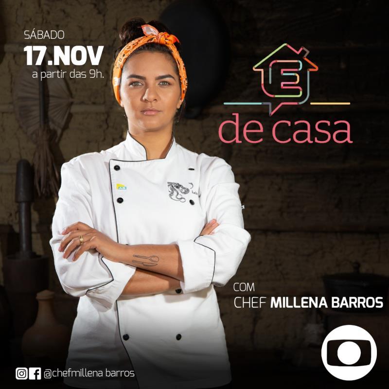 Chef tocantinense natural de Divinópolis participa do programa É de Casa, da Rede Globo
