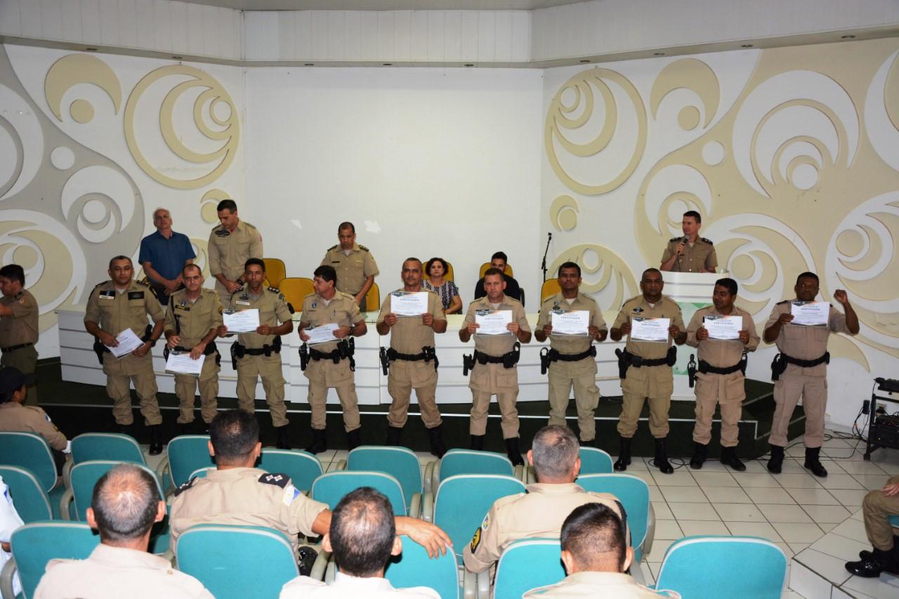Batalhão da Polícia Militar de Paraíso realiza formatura do Curso de Procedimento Operacional Padrão