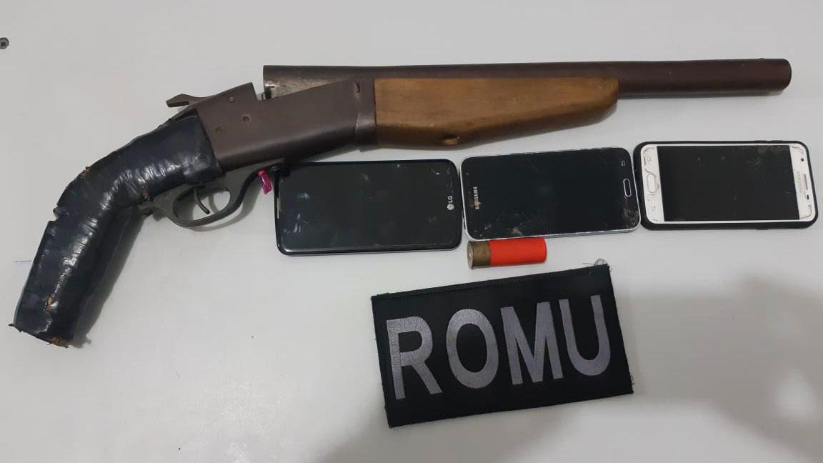 GMP e PM apreendem três pessoas por tentativa de homicídio durante patrulhamento