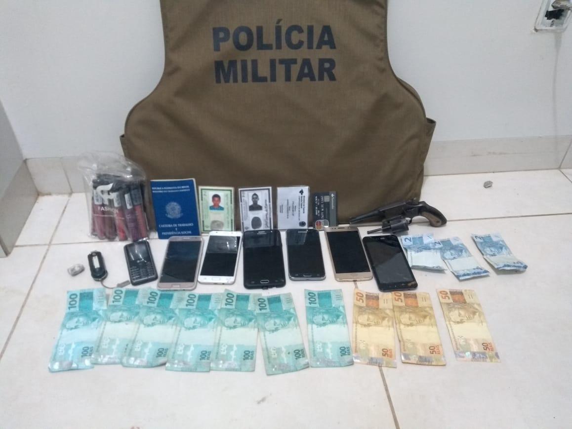 PM prende dupla acusada de série de roubos e recupera produtos em Gurupi