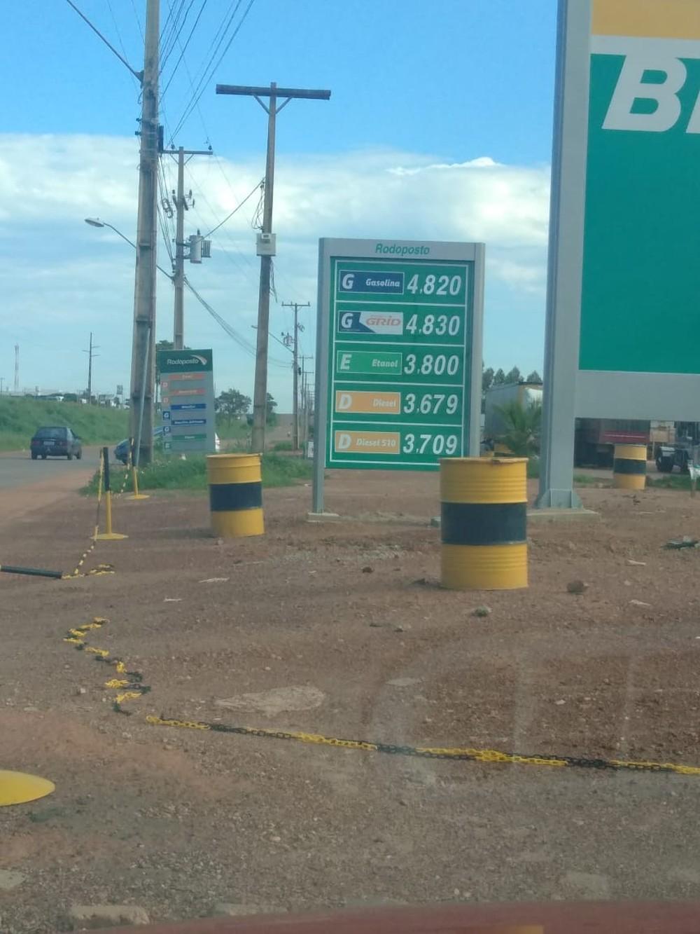 Preço da gasolina cai nos postos de Palmas; litro pode ser encontrado por R$ 4,82