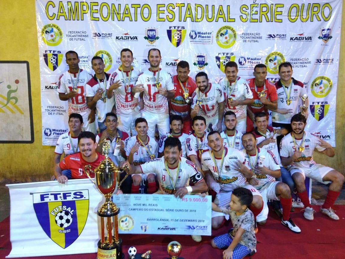 Barrolândia é tri-campeão estadual Série Ouro