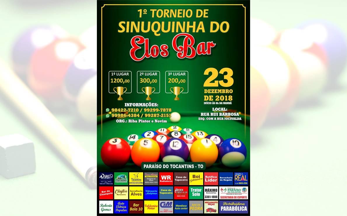 Paraíso (TO) terá torneio de sinuca com premiação em dinheiro