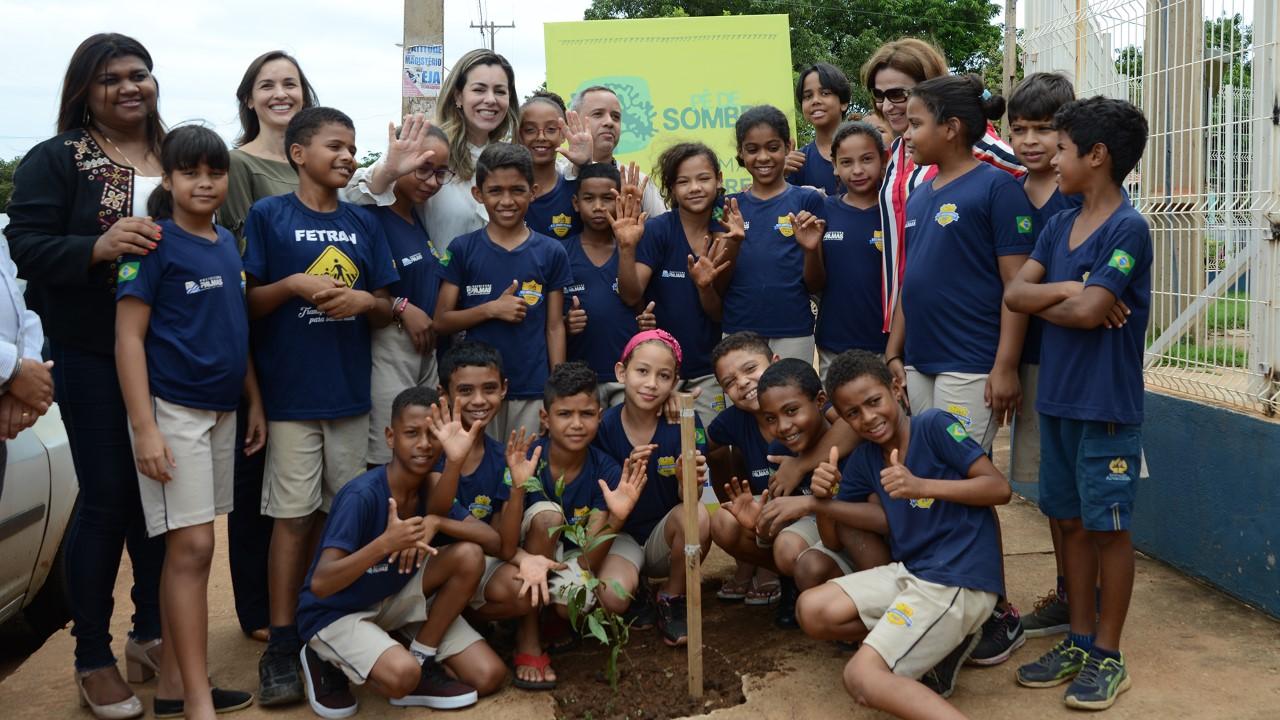 Unidades educacionais da região Sul da Capital são contempladas pelo projeto Pé de Sombra