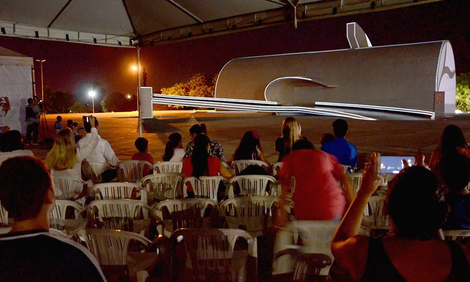 Show de luzes e projeção mapeada encantam com ícones do Tocantins