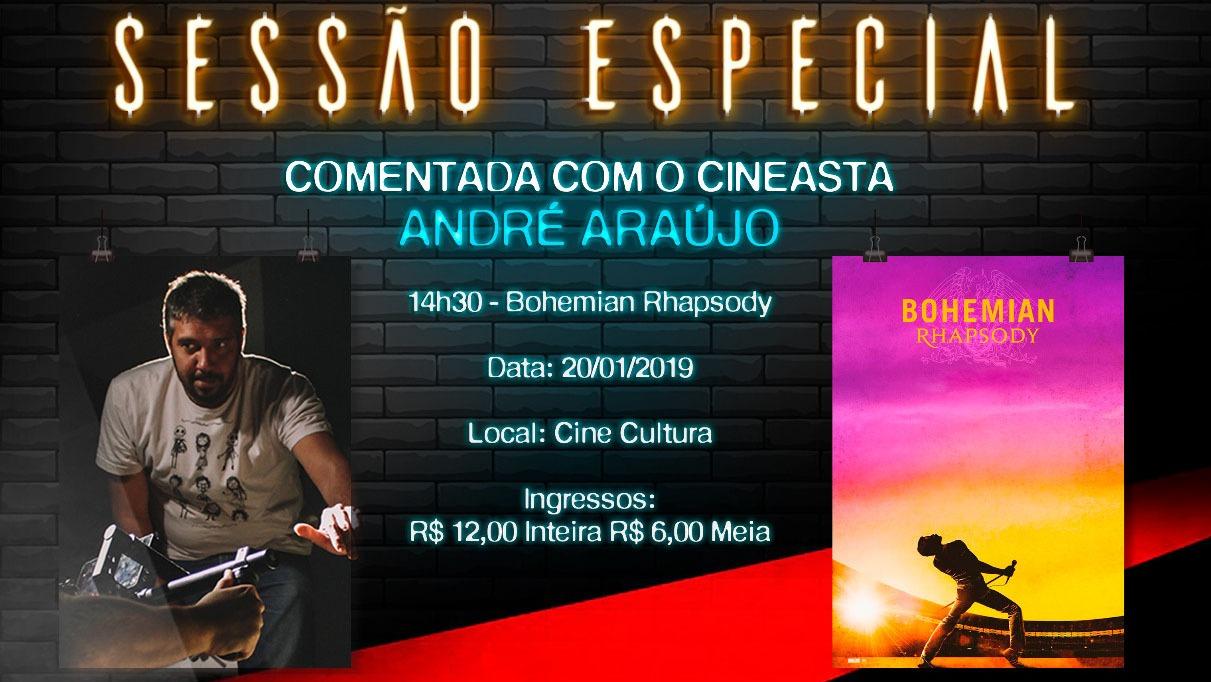 Em sessão comentada pelo cineasta André Araújo, Cine Cultura dará início às exibições dos filmes premiados em 2019