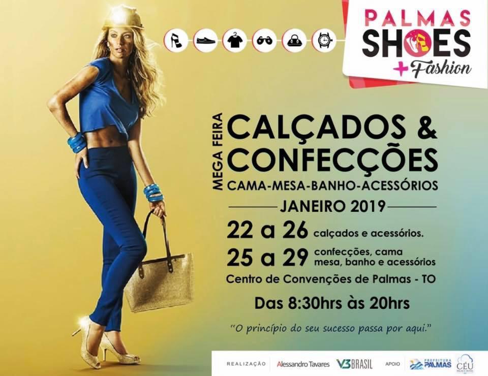 7ª Edição do Palmas Shoes e 3ª Palmas Fashion começam nesta terça, 22, no Centro de Convenções Arnaud Rodrigues