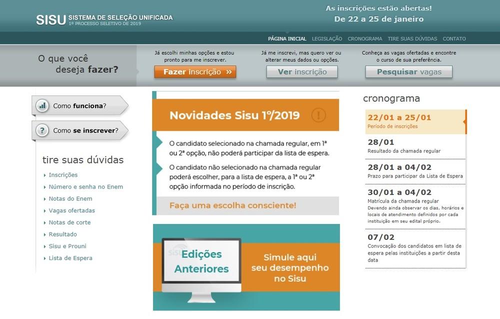Notas de corte do Sisu chegam a 788,02 no Tocantins nesta quinta-feira