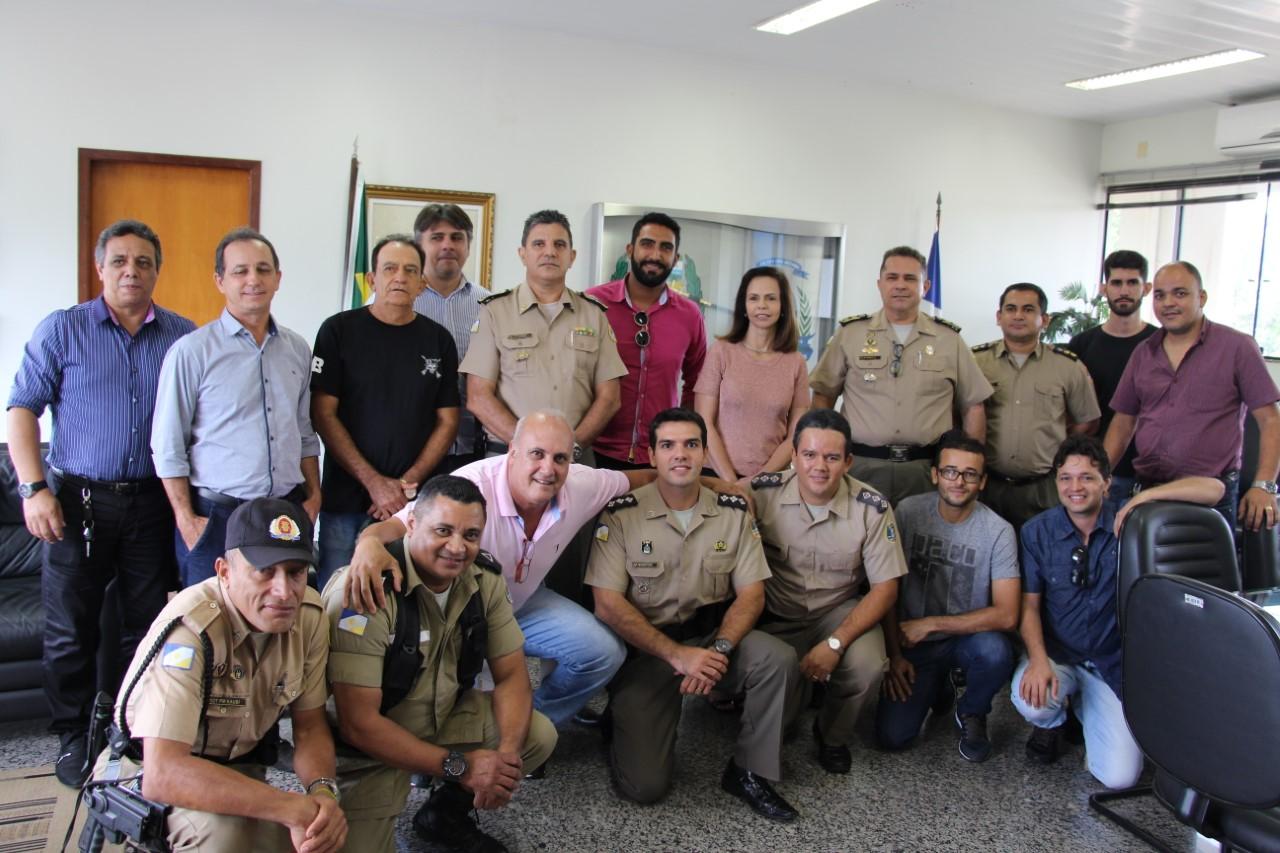 PM discute necessidades da segurança pública com a Deputada Dorinha Seabra, Prefeito de Miranorte e Conselho Comunitário de Segurança