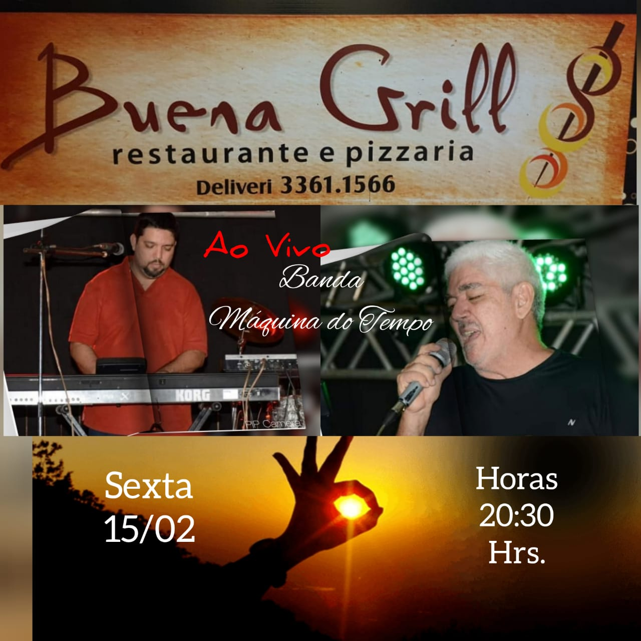 Nesta sexta tem flashback ao vivo no Buena Grill em Paraíso