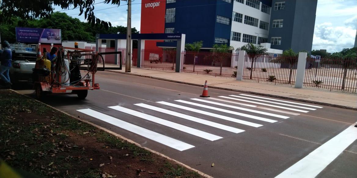 Seisp recupera sinalização horizontal nas avenidas da Capital